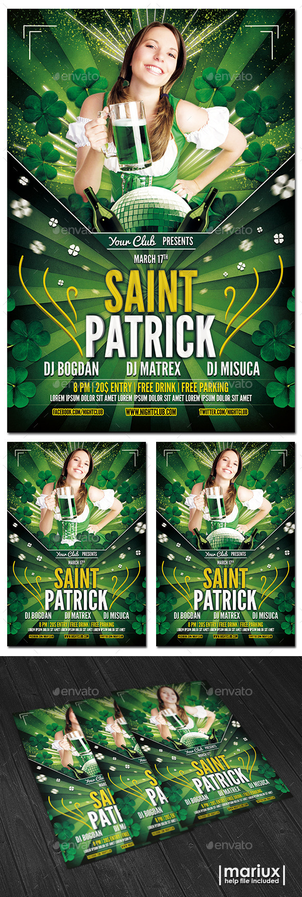 GraphicRiver St Patricks Day Flyer 10305125