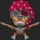 Rottweiler Pirate with Pistols - GraphicRiver Item for Sale