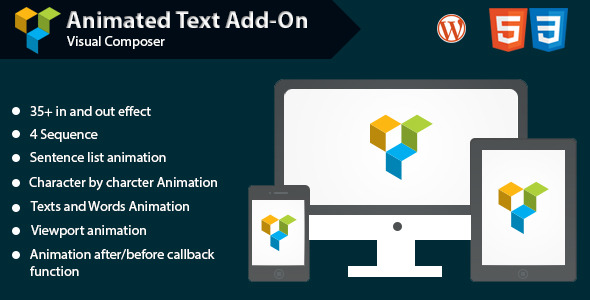 CodeCanyon Animated Text Add-on for Visual Composer 10305263
