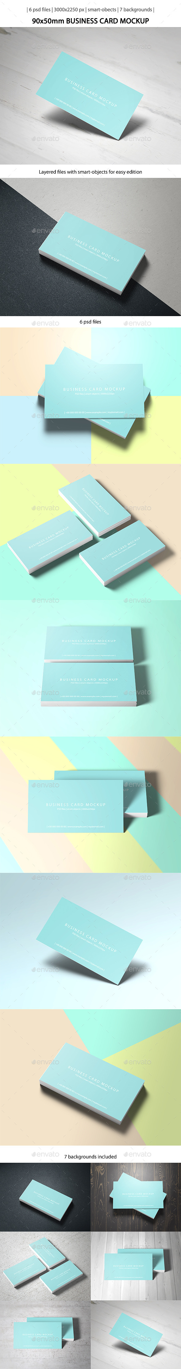 GraphicRiver 90x50 Business Card Mockup 10305270