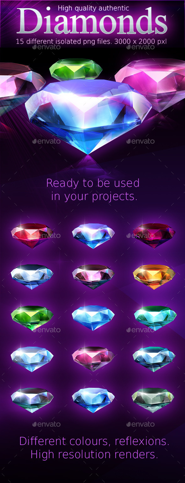 GraphicRiver Various shiny diamonds 10052813