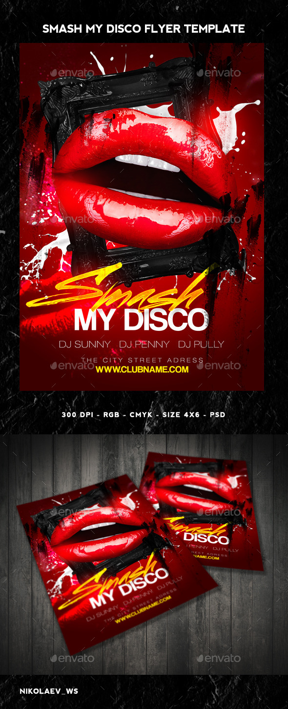 GraphicRiver Smash my Disco Flyer 10305307