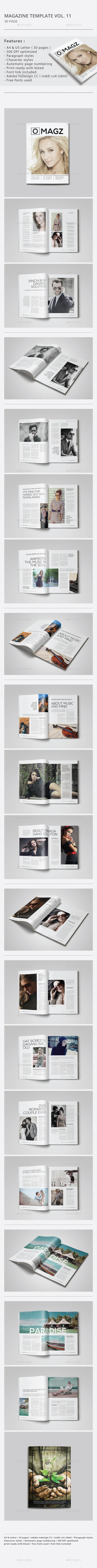 GraphicRiver Indesign Magazine Template Vol.11 10305315