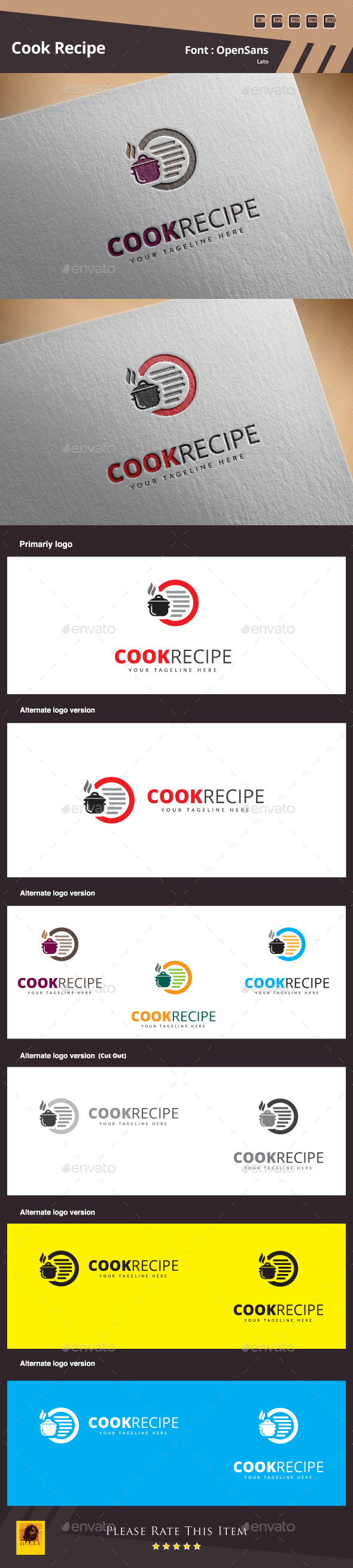 GraphicRiver Cook Recipe Logo Template 10305478