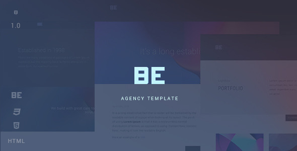 ThemeForest Be Responsive HTML5 Agency Template 10305669