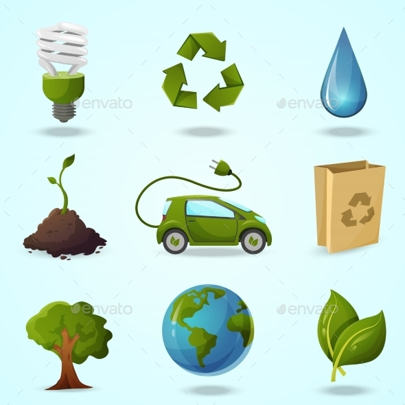 GraphicRiver Eco Icons 10305670