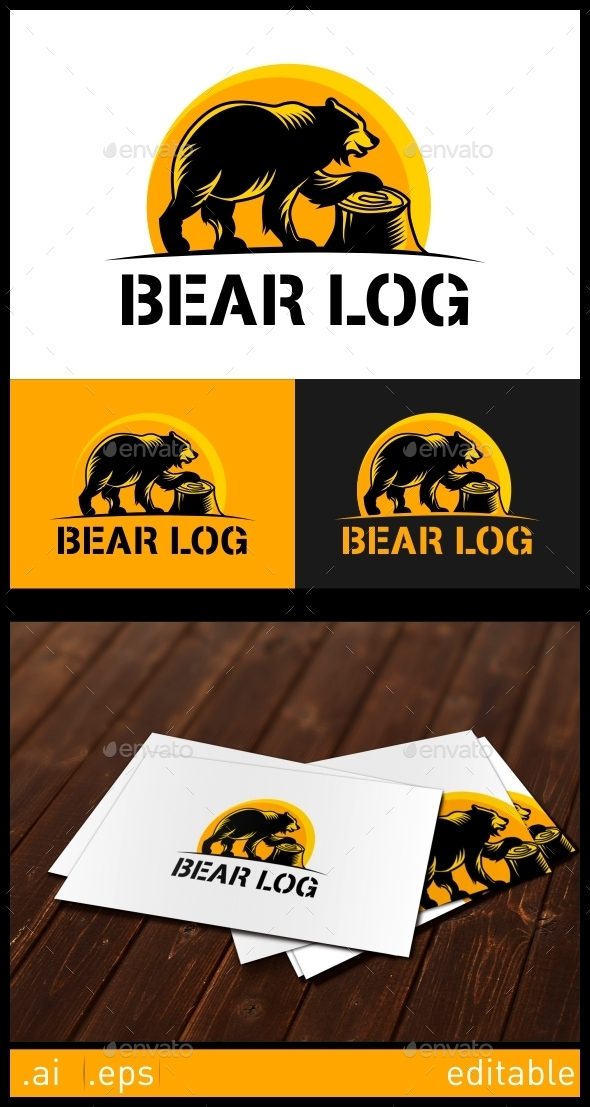 GraphicRiver Bear Log Logo Template 10305725