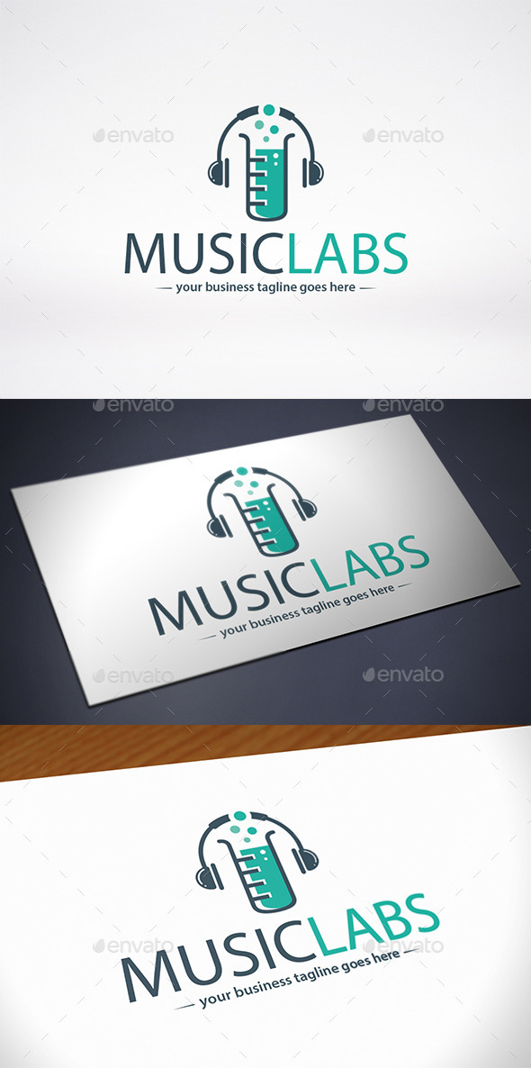 GraphicRiver Music Lab Logo Template 10305804