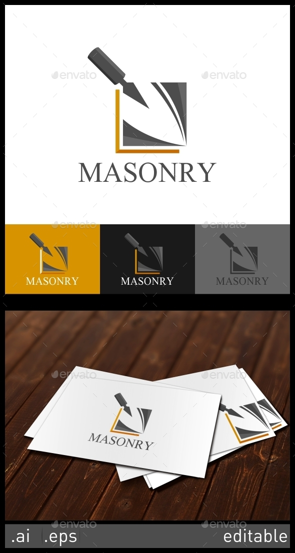 GraphicRiver Masonry Logo Template 10305819