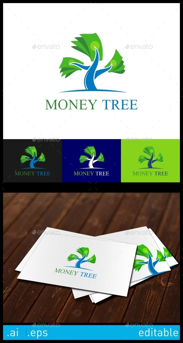 GraphicRiver Money Tree Logo Template 10305832