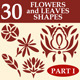 Flowers and leaves custom shapes - GraphicRiver Item for Sale