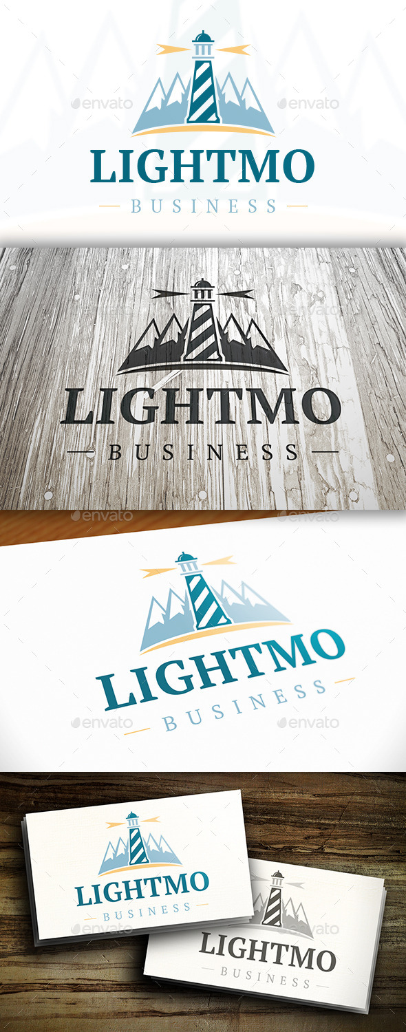 GraphicRiver Lighthouse Mountain Logo 10305867