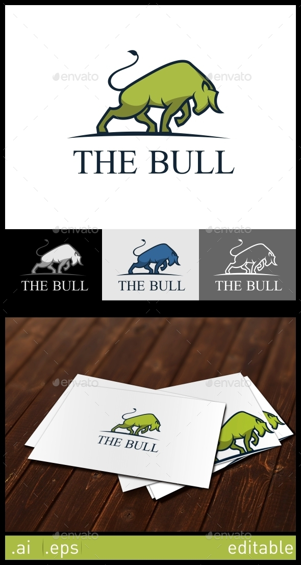 GraphicRiver The Bull Logo Template 10305872