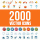 2000 Vector Icons - GraphicRiver Item for Sale