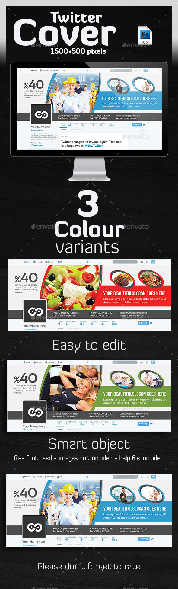 GraphicRiver Multipurpose Twitter Header 10306172