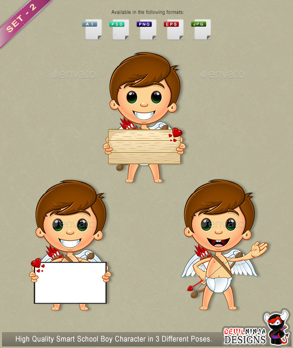 GraphicRiver Little Cupid Character Set 2 10306219