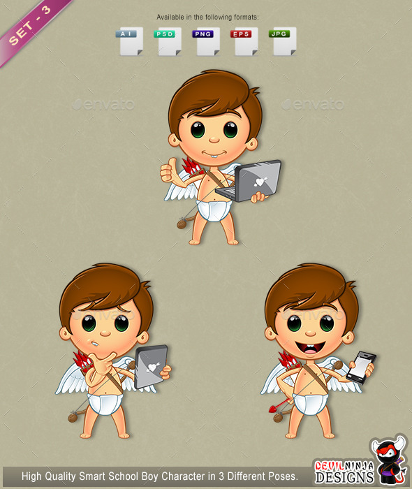 GraphicRiver Little Cupid Character Set 3 10306232