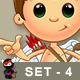 Little Cupid Character – Set 4 - GraphicRiver Item for Sale