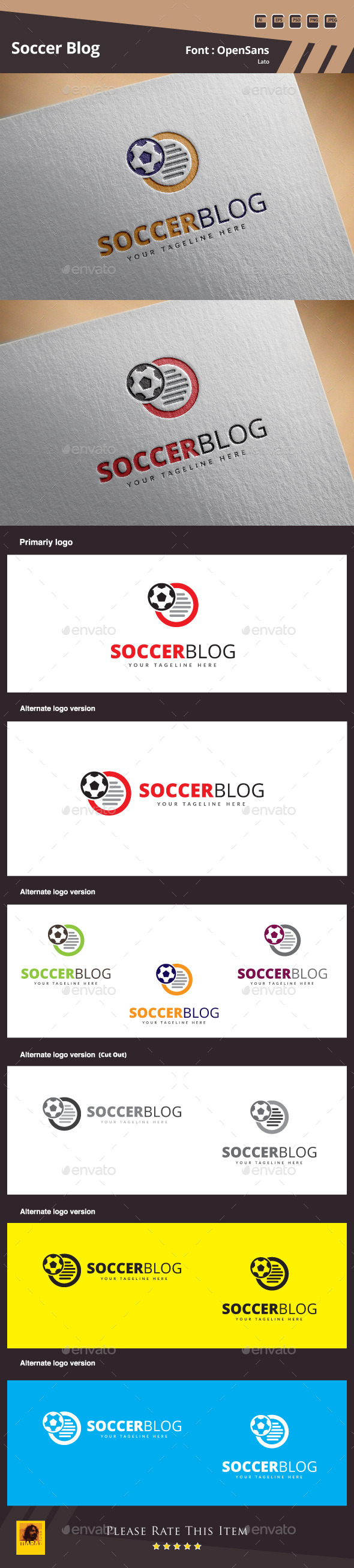 GraphicRiver Soccer Blog Logo Template 10306263