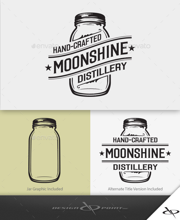 Moonshine Distillery Logo | GraphicRiver