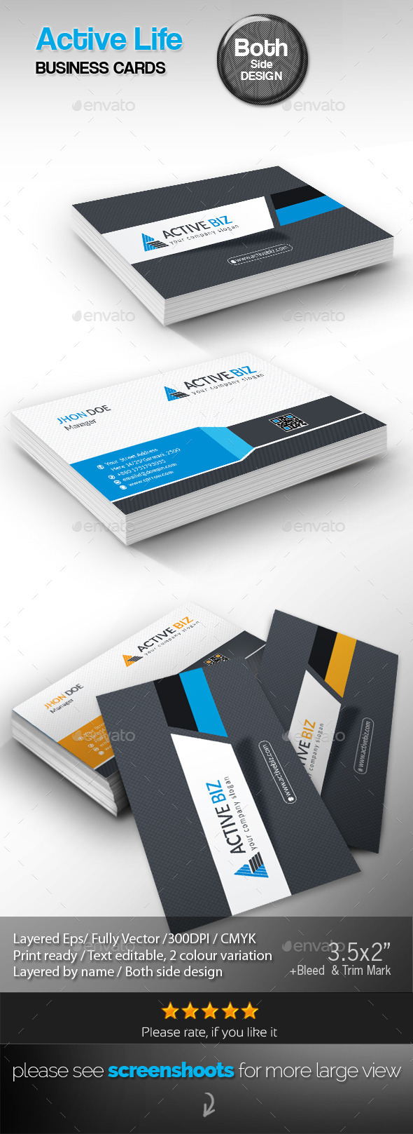GraphicRiver Corporate Business Card 10306357