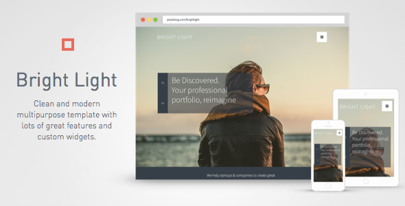 ThemeForest Bright Light Multipurpose Muse Template 10306408