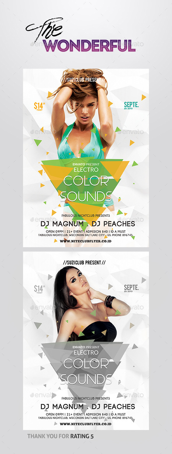 GraphicRiver Color Sounds Party Flyer 10306445