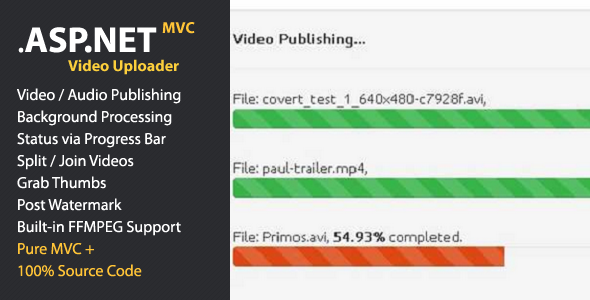 CodeCanyon JUGNOON Video Uploader for ASP.NET MVC 10306583