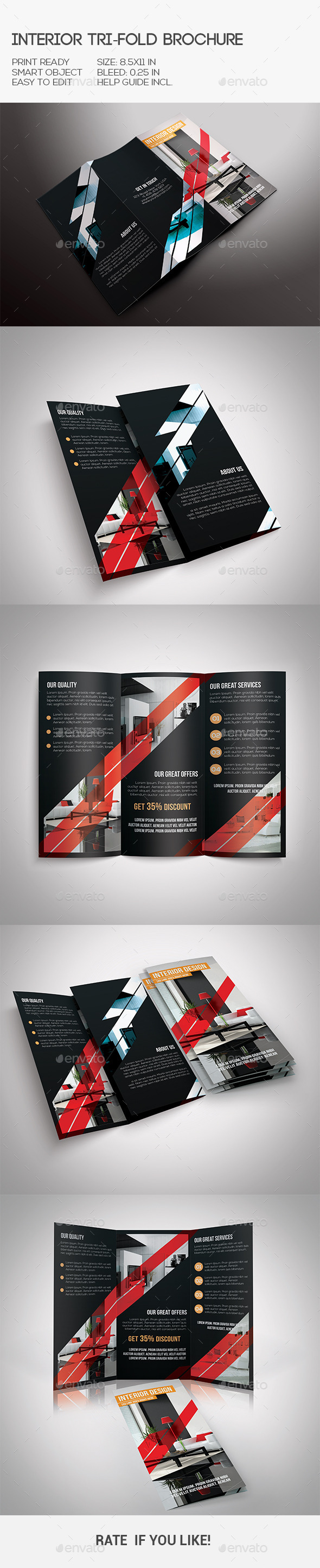 GraphicRiver Interior Trifold Brochure 10306608