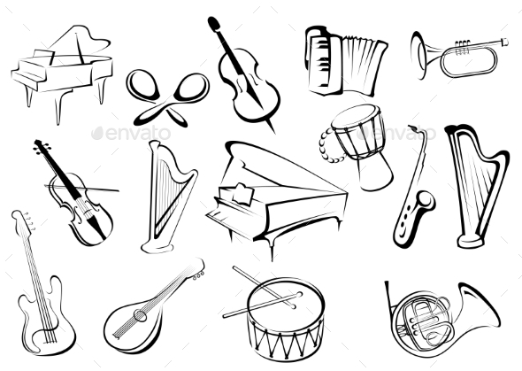 GraphicRiver Musical Instruments 10306658