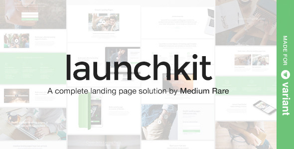 Launchkit Landing Page Template with Page Builder - Marketing Corporate
