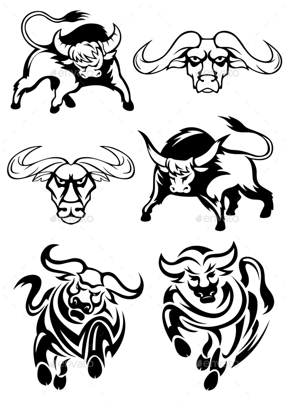 GraphicRiver Bulls or Buffaloes 10307007