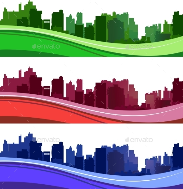 GraphicRiver City Silhouettes 10307061