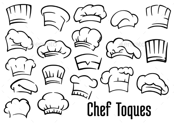 GraphicRiver Chef Hats and Toques Set 10307091