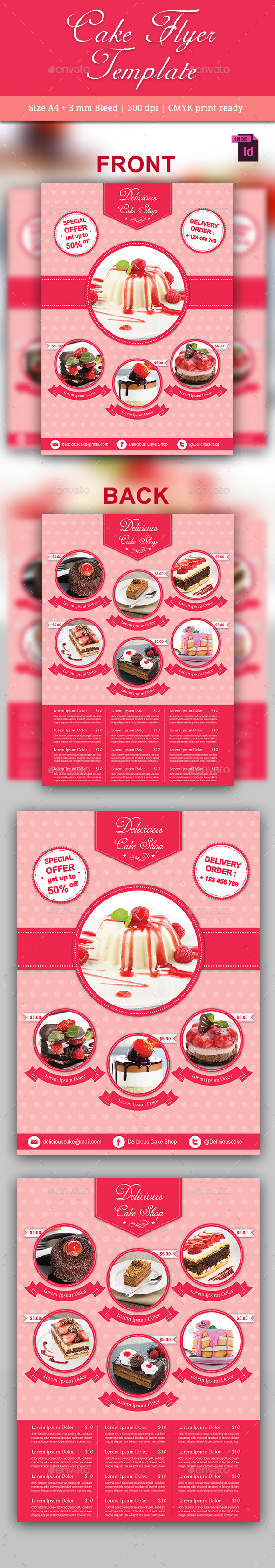 GraphicRiver Cake Flyer Template 10237634