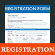 Registration & Membership Form  - GraphicRiver Item for Sale