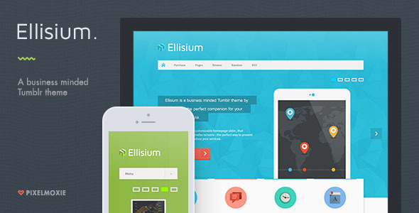 Ellisium - A Business Minded Tumblr Theme - Business Tumblr