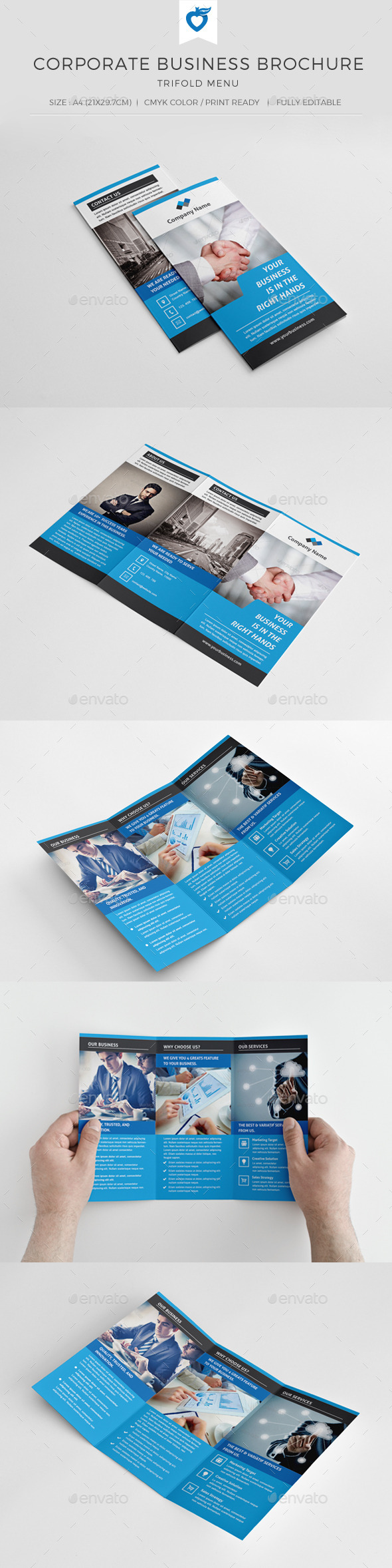 GraphicRiver Corporate Business Trifold Brochure 10307531