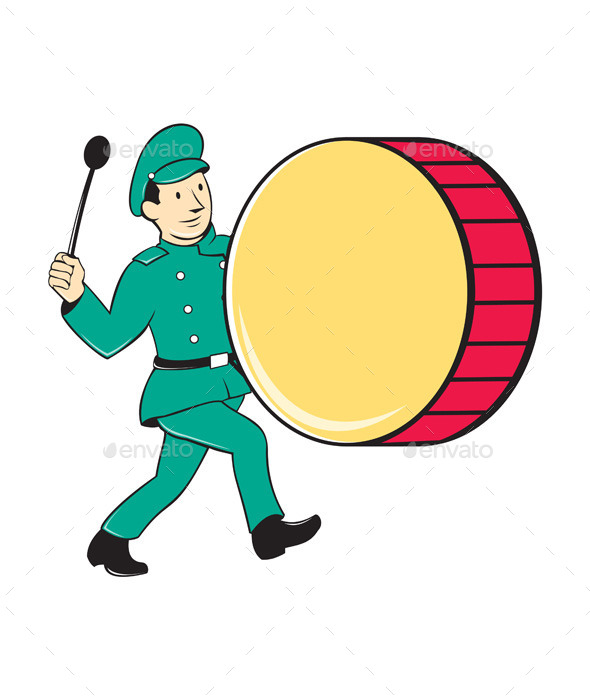 GraphicRiver Marching Band Drummer Beating Drum 10307731