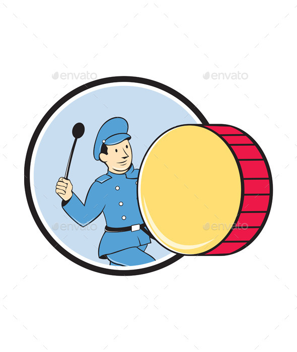 GraphicRiver Brass Drum Marching Band Drummer Circle 10307738