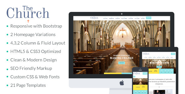 ThemeForest The Church Responsive Church & Non Profit Template 9165342