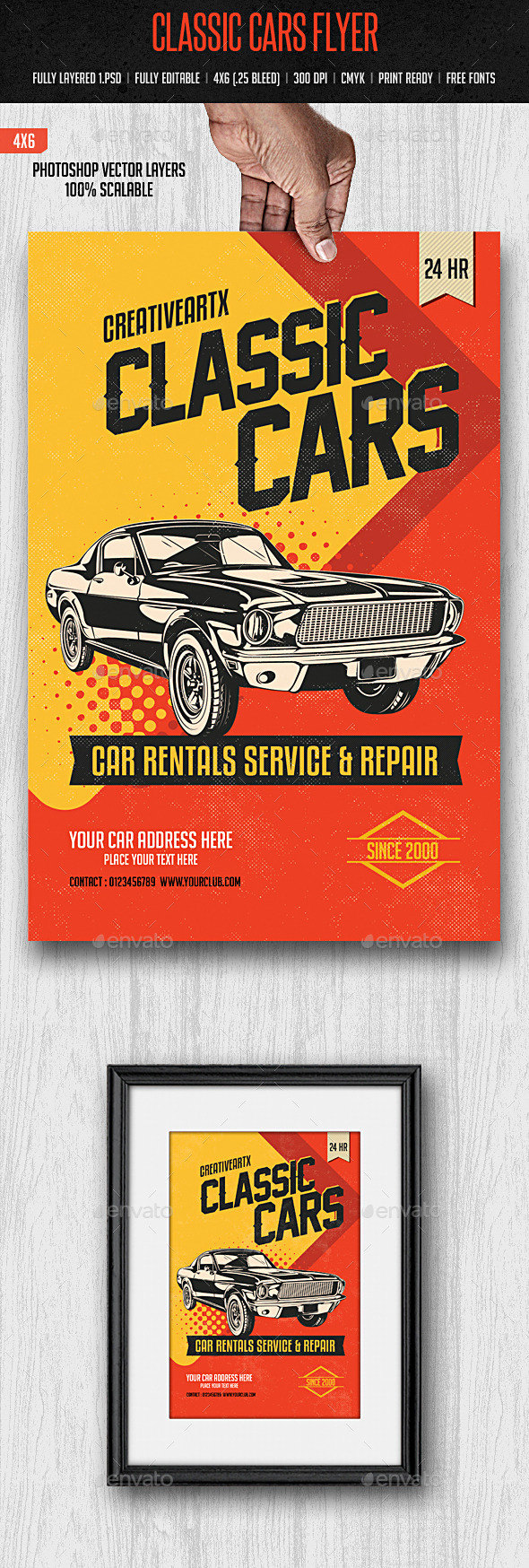 GraphicRiver Classic Cars Flyer 10308449