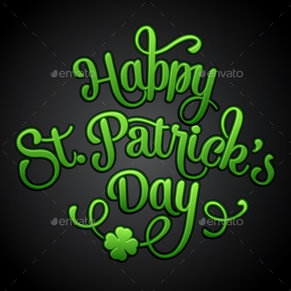 GraphicRiver Typographic Saint Patrick s Day Greeting Card 10308558