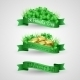 Set of Saint Patrick Day Banners with Clovers - GraphicRiver Item for Sale