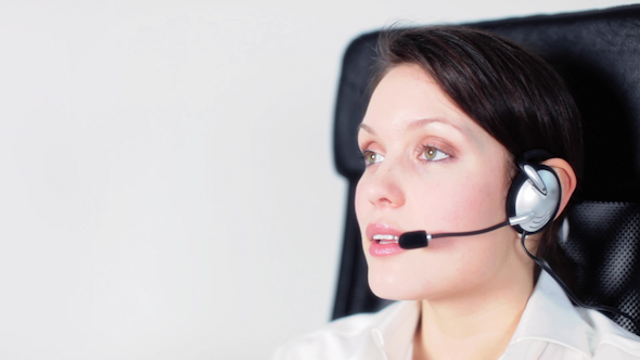 Call Center Girl Telephone Job 2