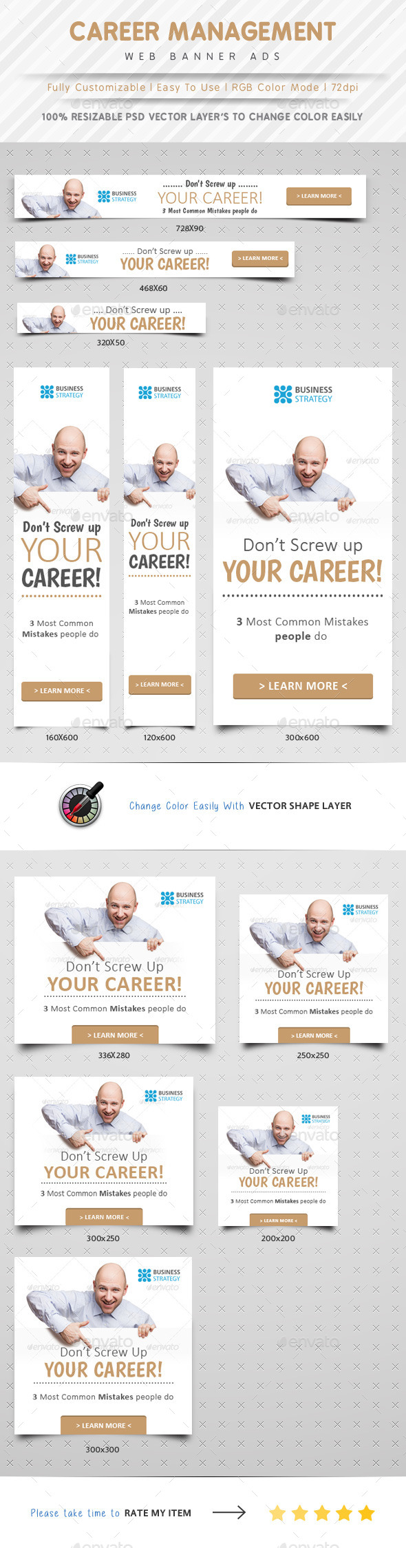 GraphicRiver Career Management Web Banner Ads 10308952