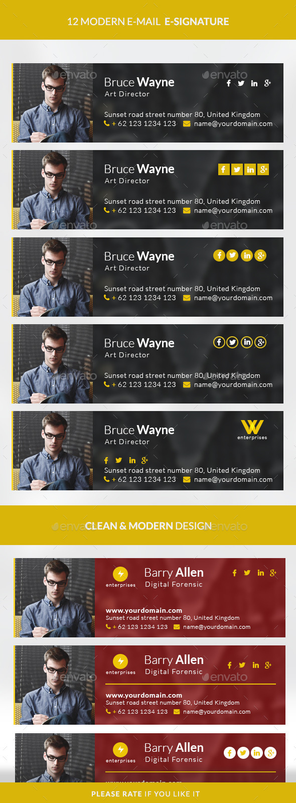 GraphicRiver Modern E-signature 10308990