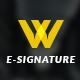 Modern E-signature - GraphicRiver Item for Sale