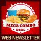 Restaurant Fast Food Web Newsletter - GraphicRiver Item for Sale