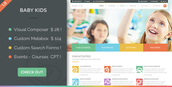 ThemeForest Baby Kids Education Primary School For Children 10240657